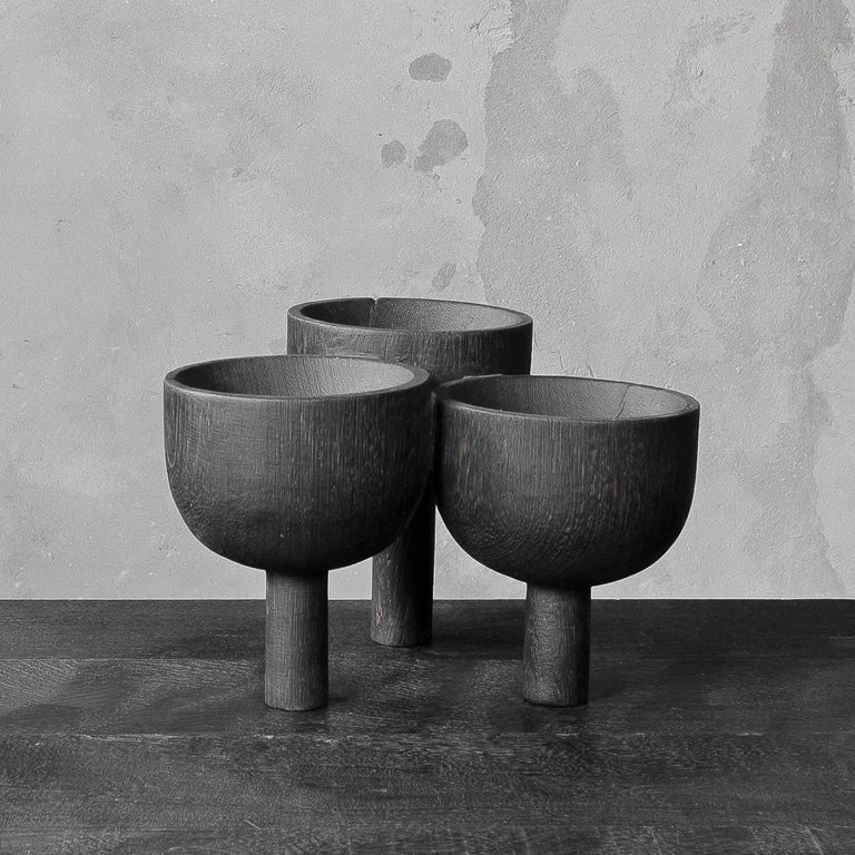 Triple Tray 2.0 in African Walnut, Arno Declercq For Sale 1
