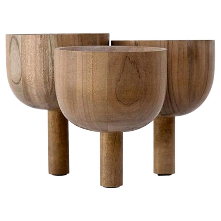 Triple Tray 2.0 in African Walnut, Arno Declercq For Sale