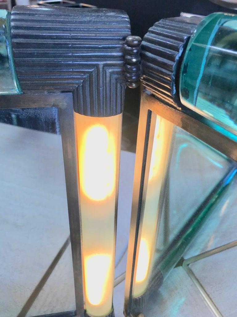 Triple Vanity Table Light Mirror, 1940s For Sale 2