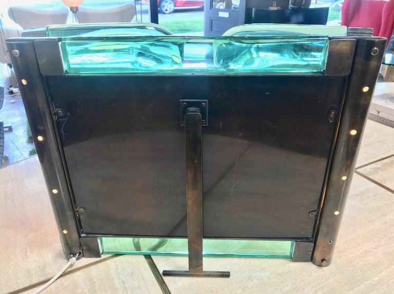 Mid-20th Century Triple Vanity Table Light Mirror, 1940s For Sale