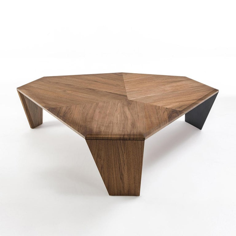 Coffee table triple walnut set of 2 tables all in