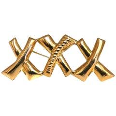 Triple X Gold Pin 14 Karat XXX Retro Vintage
