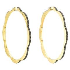 Triplet Hoop Earrings, Jumbo
