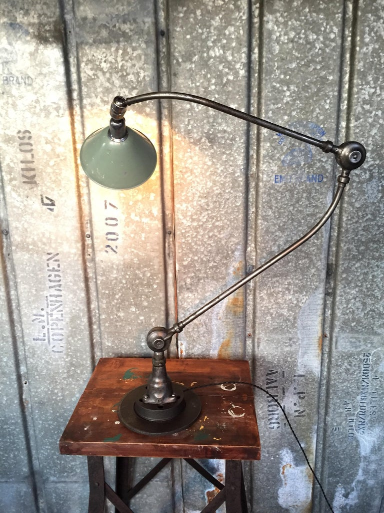 Iron Triplex Industrial Lamp Designed by Johan Petter Johanson in the 1930s For Sale