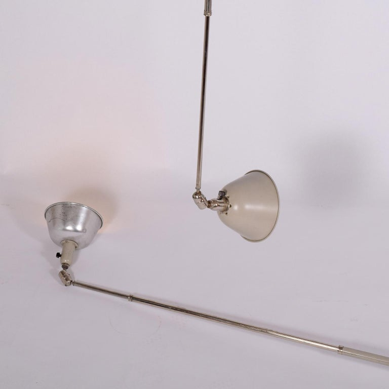Metal Triplex Lamp by Johan Petter Johansson for ASEA For Sale