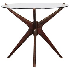 Tripod Coffee or Gueridon Table in the Style of Gio Ponti, 1960s