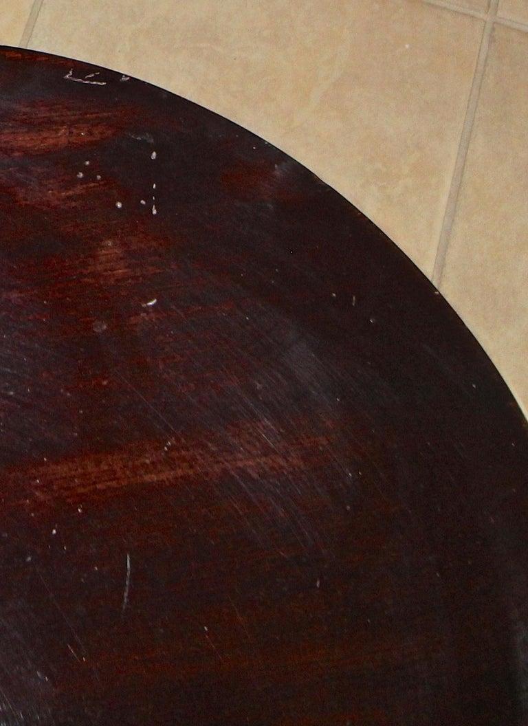 Tripod Dark Walnut Paul Frankl Style End Side Table 6