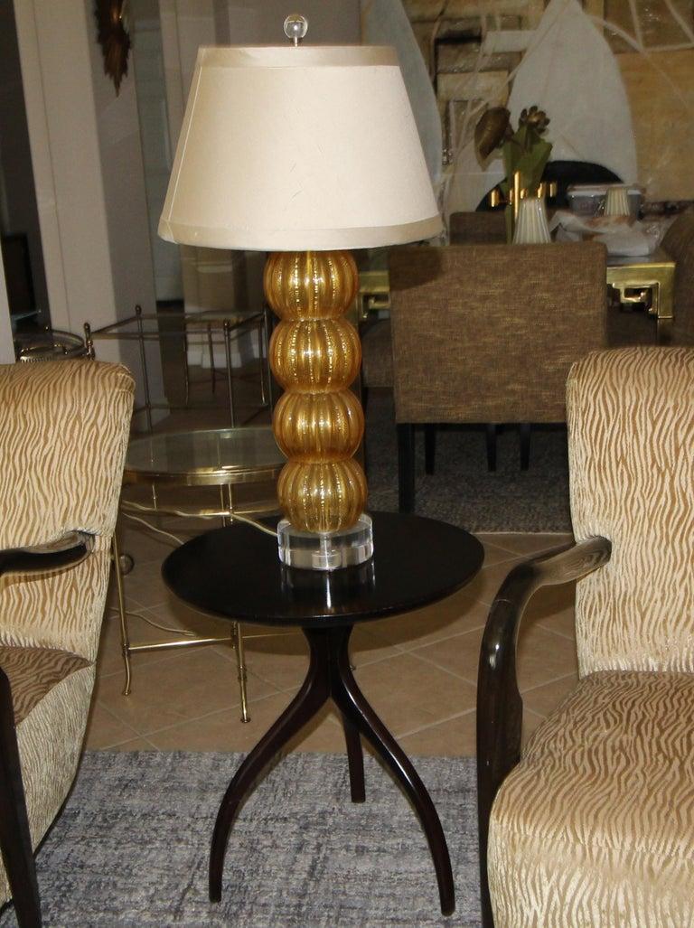 Tripod Dark Walnut Paul Frankl Style End Side Table 7