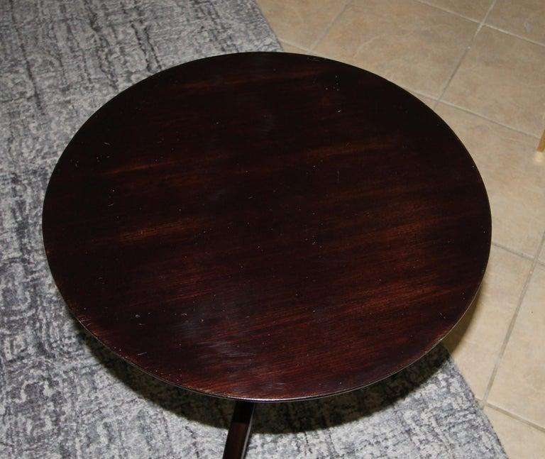 Tripod Dark Walnut Paul Frankl Style End Side Table 8