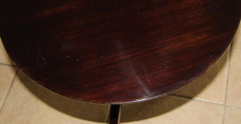 Tripod Dark Walnut Paul Frankl Style End Side Table 9