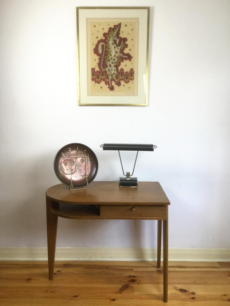 Tripod Desk Attributed to Jacques Adnet 1950s 3