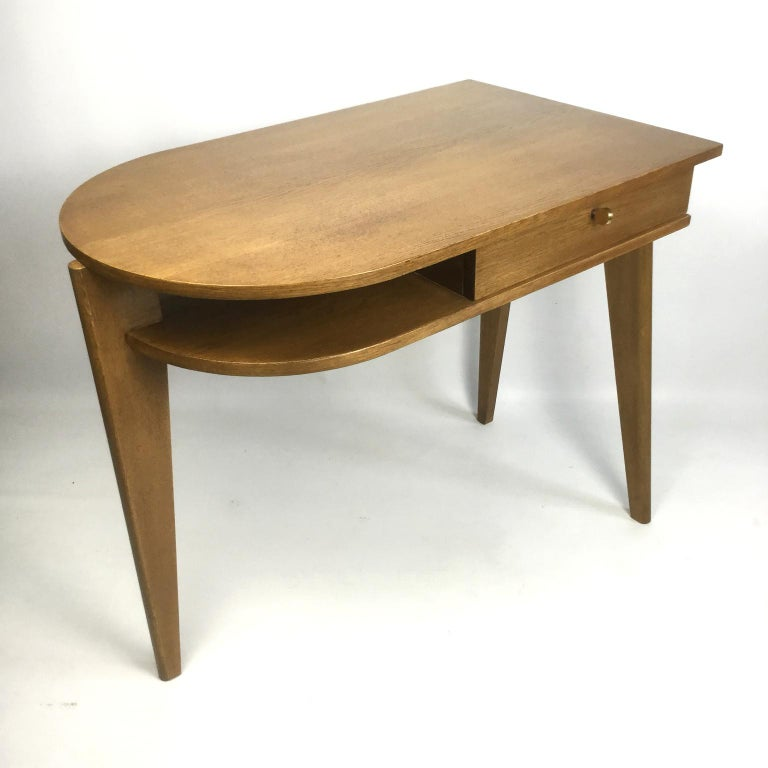 French Tripod Desk Attributed to Jacques Adnet 1950s