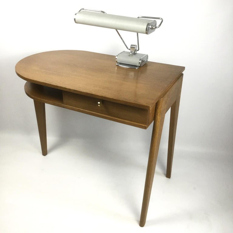 Woodwork Tripod Desk Attributed to Jacques Adnet 1950s