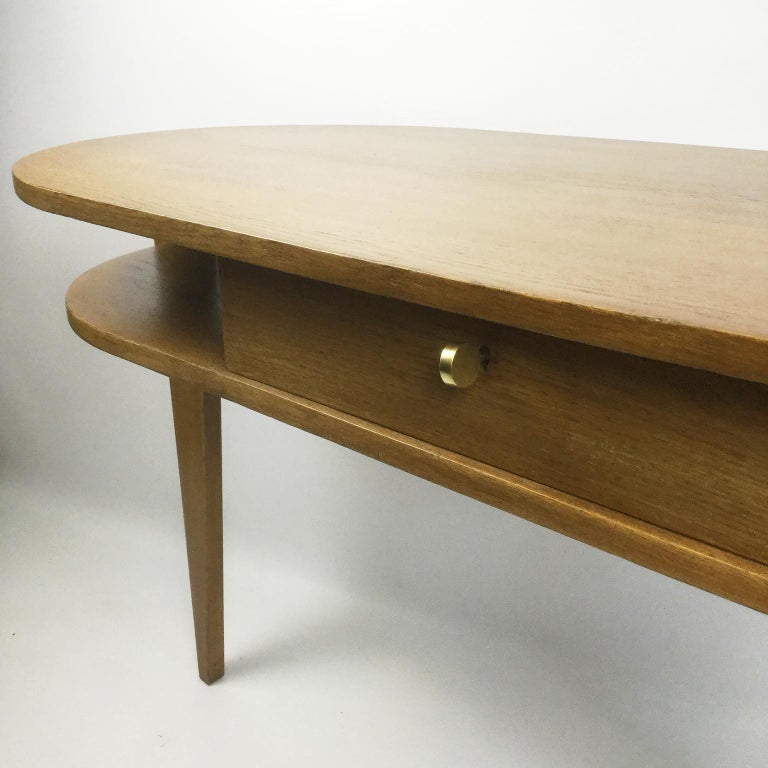 Tripod Desk Attributed to Jacques Adnet 1950s In Good Condition In London, GB