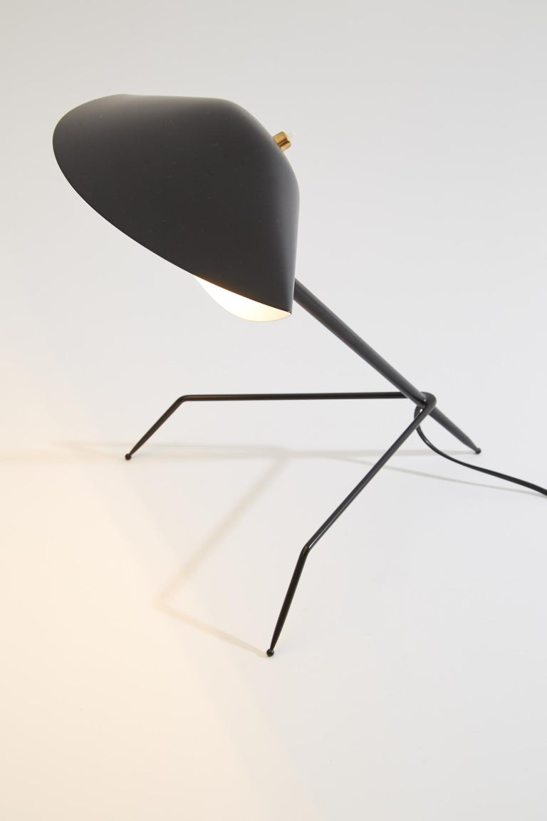 Mid-Century Modern 'Tripod' Desk Lamp by Serge Mouille For Sale