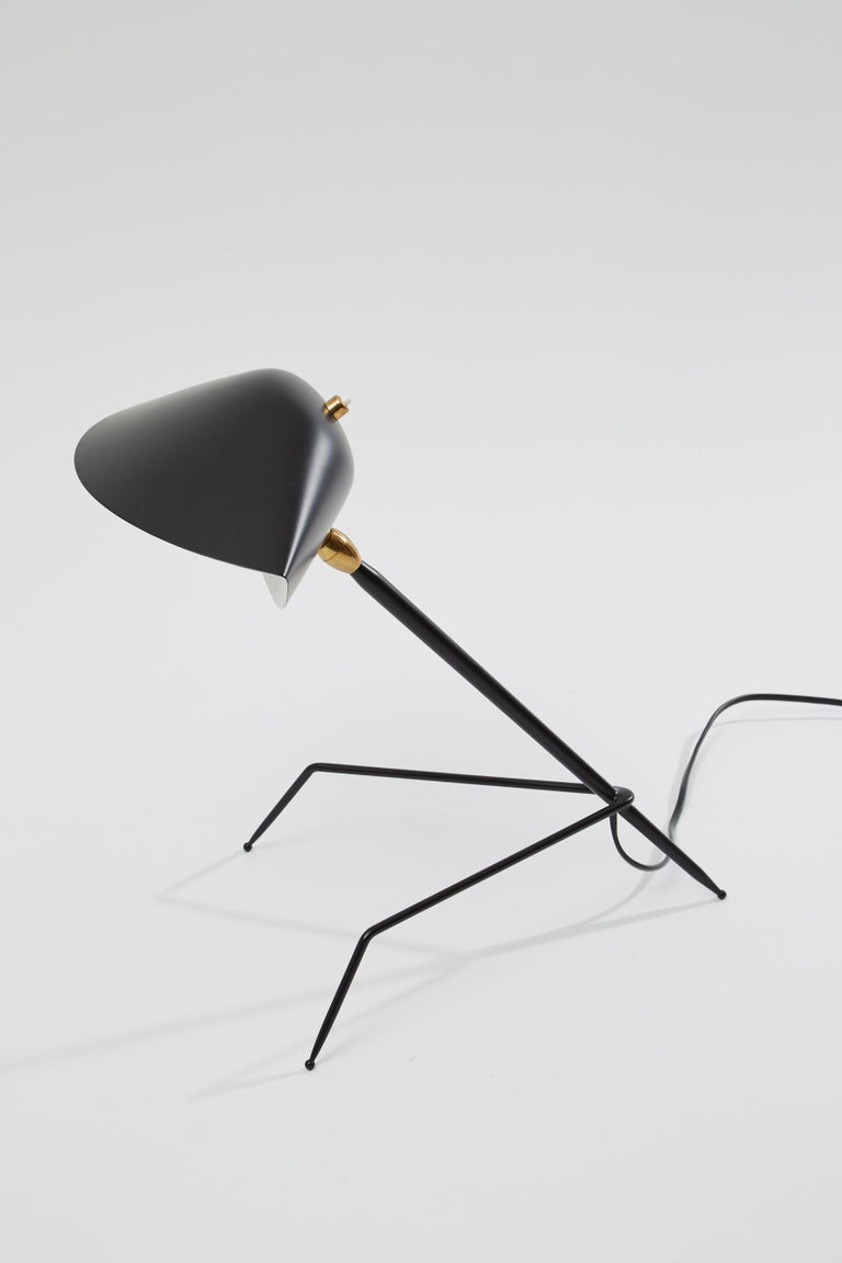 'Tripod' Desk Lamp by Serge Mouille In New Condition For Sale In Los Angeles, CA