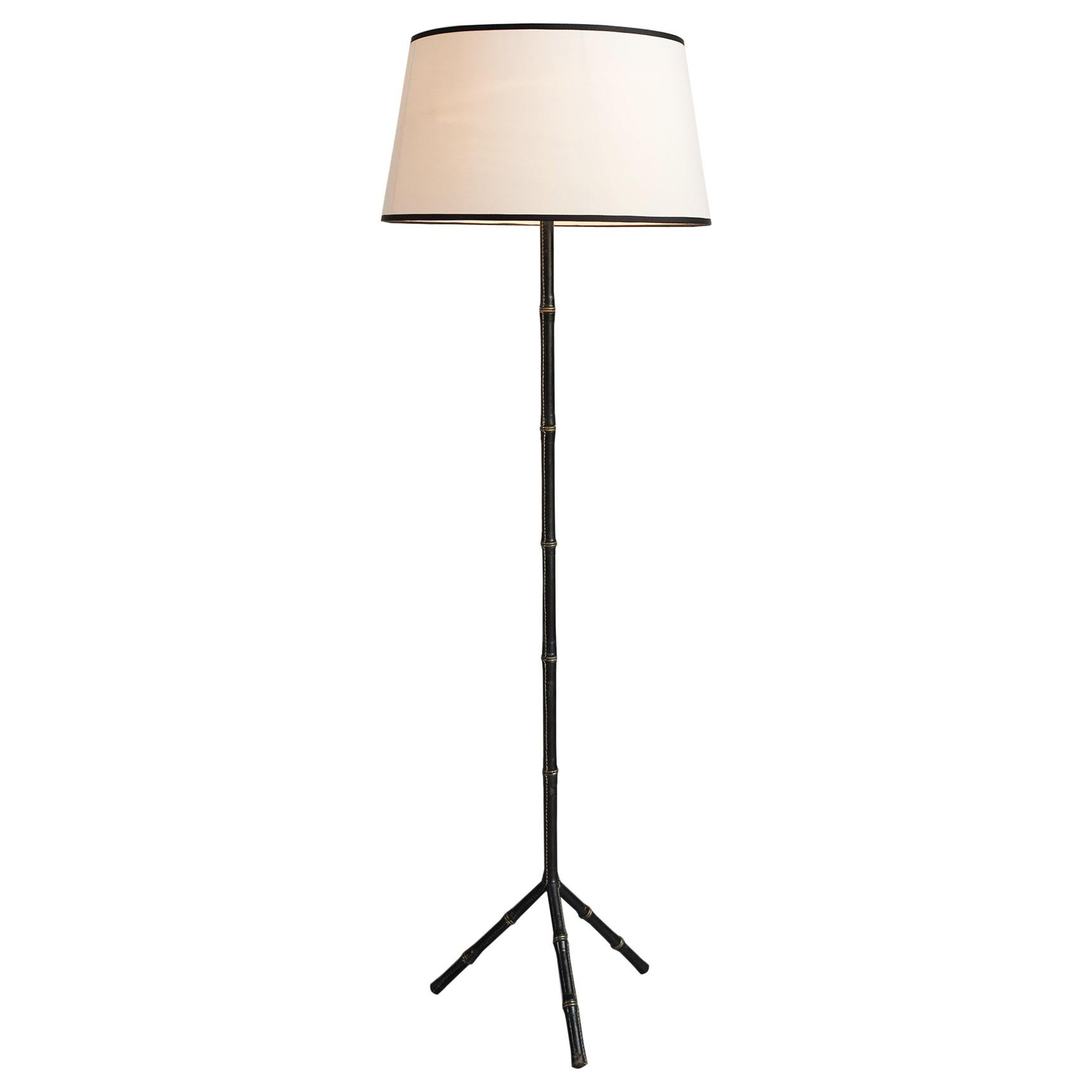 Tripod Floor Lamp by Jacques Adnet, France 1950