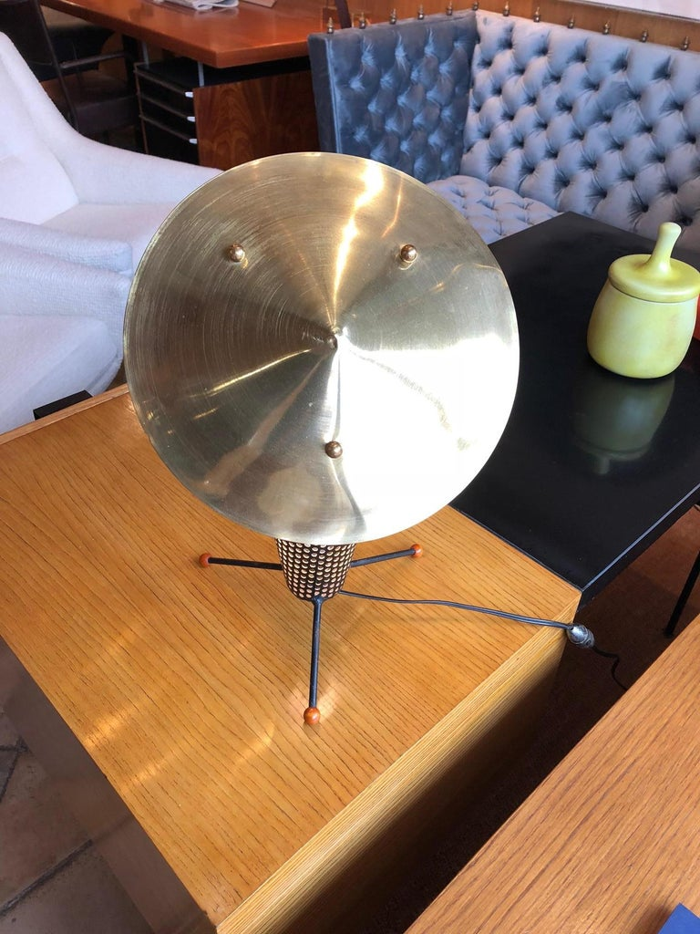 French Tripod Lamp by Jacques Biny, circa 1950 For Sale