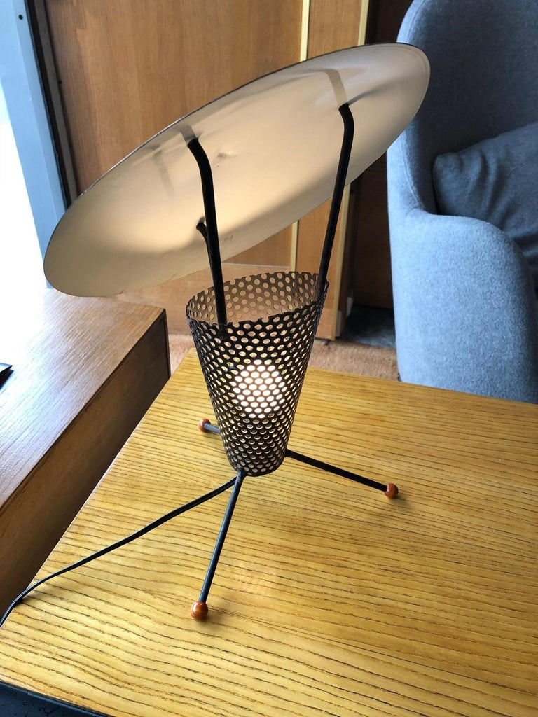 Mid-20th Century Tripod Lamp by Jacques Biny, circa 1950 For Sale