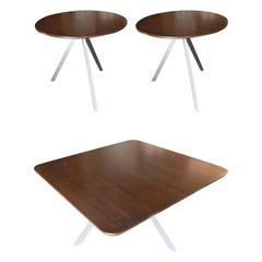 Tripod Leg Side Table and Coffee Table Set