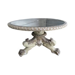 Tripod Lion Paw Table Base with Mirrored Top by MLA