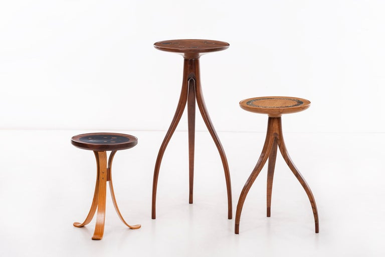 Tripod Plant Pedestal Table in the Style of Edward Wormley For Sale 1