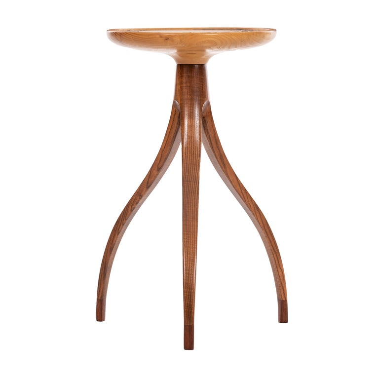 Tripod Plant Pedestal Table in the Style of Edward Wormley For Sale