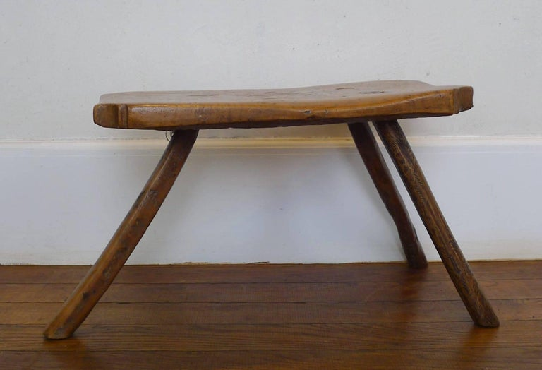 Used as stool or side table, because his height (32cm)  Exceptional patina caused by time and use  France, Alsace.