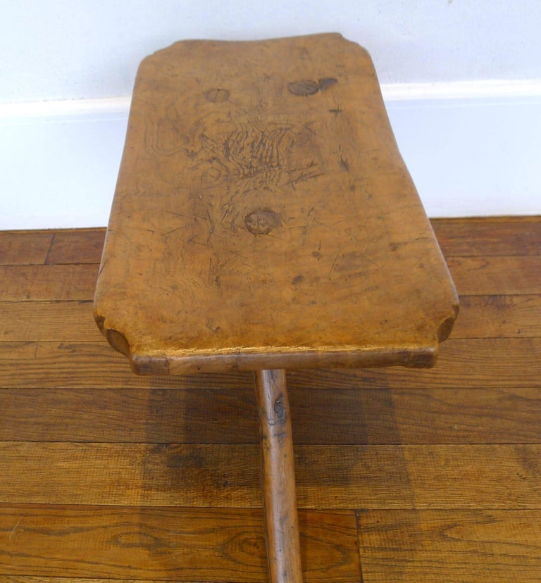 French Tripod Stool, 18th Century For Sale