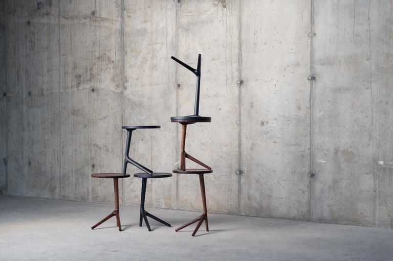 Tripod Table in Black Ash (Tall: 25