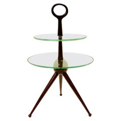 Tripode Side Table in Mahogany by Cesare Lacca, Italy, circa 1950