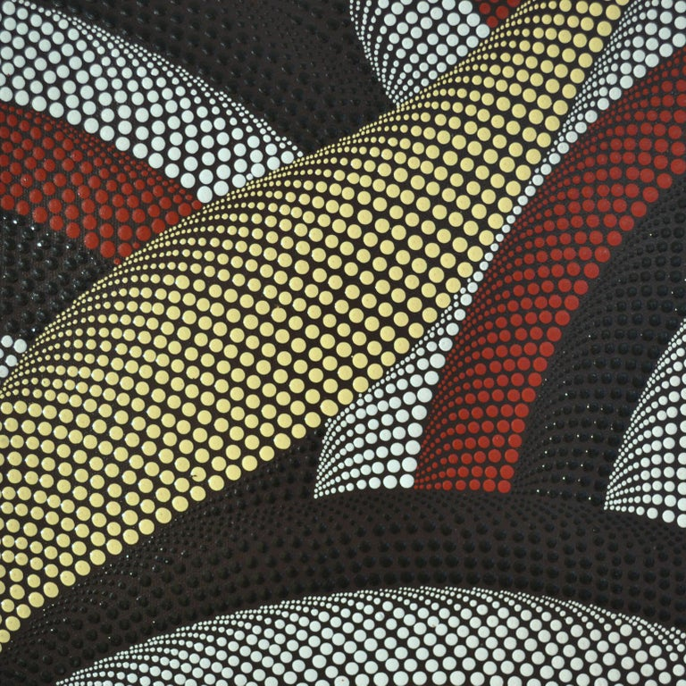 Triptych of Contemporary Aboriginal Paintings For Sale 1