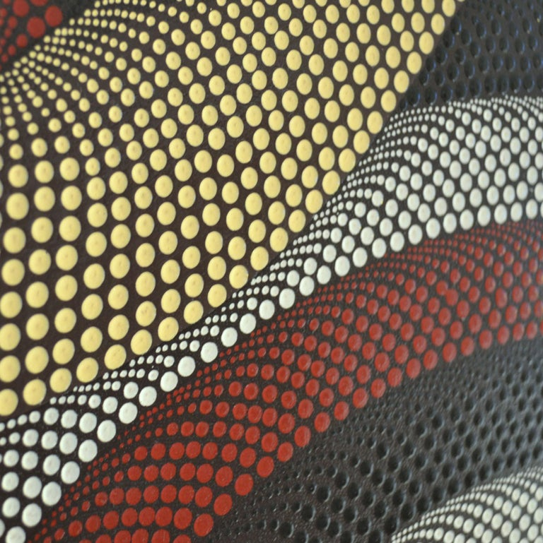 Triptych of Contemporary Aboriginal Paintings For Sale 2