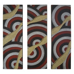 Triptych of Contemporary Aboriginal Paintings