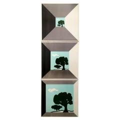 Triptych Tile in Ceramic Design Sergio Asti for Cedit, 1970s