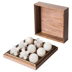 Tris Box with Alabaster Pieces