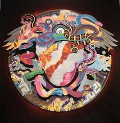 Versace Medusa (Red Aura Variant) Graffiti Street Art Signed Artist Proof Print