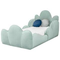 Tristan Kid's Bed in Velvet