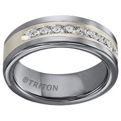 Triton Diamond .50 Carat Tungsten Carbide and Sterling Silver Band Ring