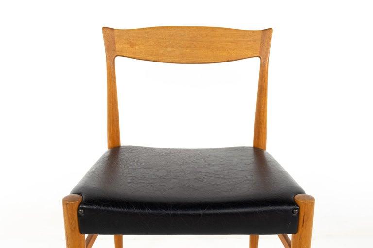 Upholstery Troeds Bjarnum Mid Century Teak Dining Chair For Sale