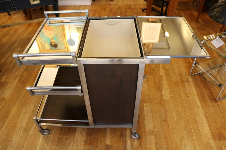 Trolley Bar by Jacques Adnet, France, 1930s For Sale 1
