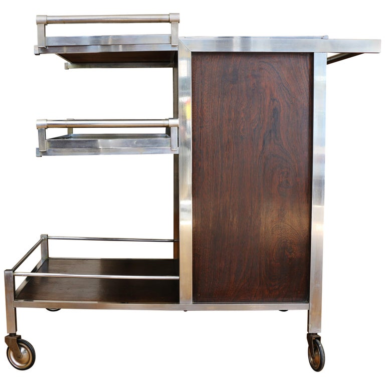 Trolley Bar by Jacques Adnet, France, 1930s For Sale