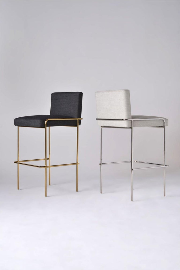 Contemporary Trolley Bar and Counter Stool For Sale