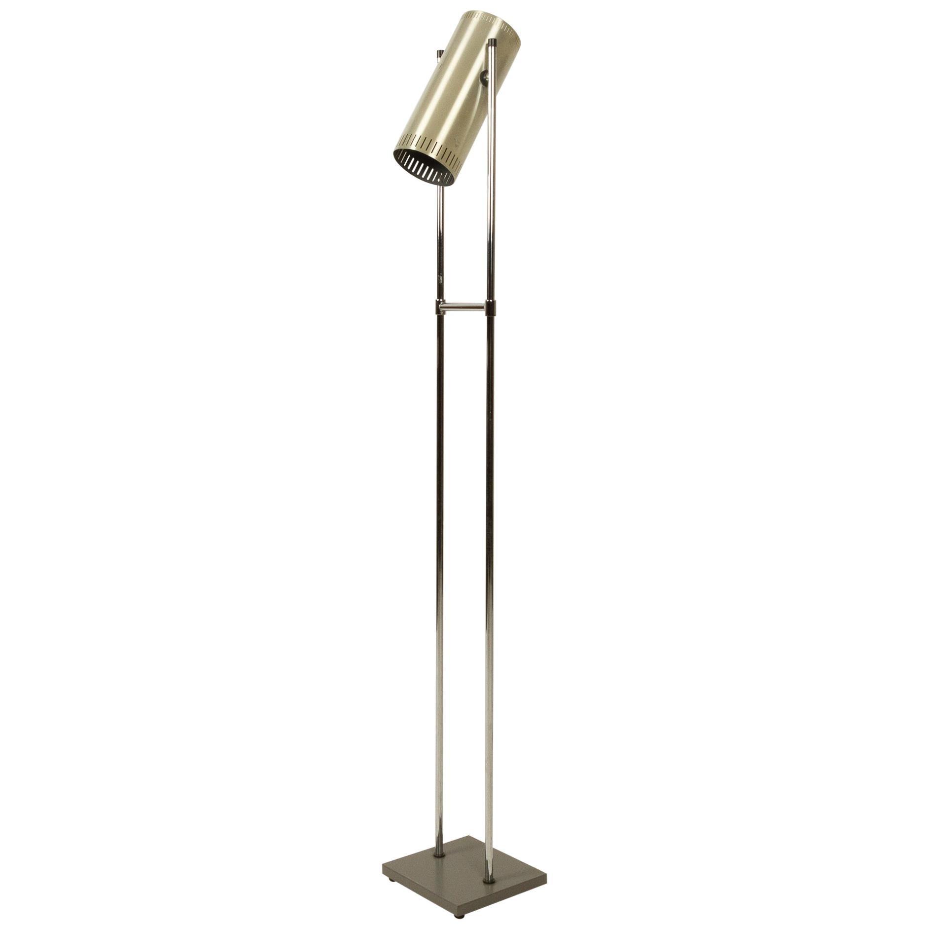 Trombone Floor Lamp by Jo Hammerborg for Fog & Mørup, 1960s