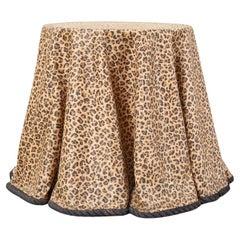 Trompe L'oeil Hollywood Regency Draped Leopard Drinks Table