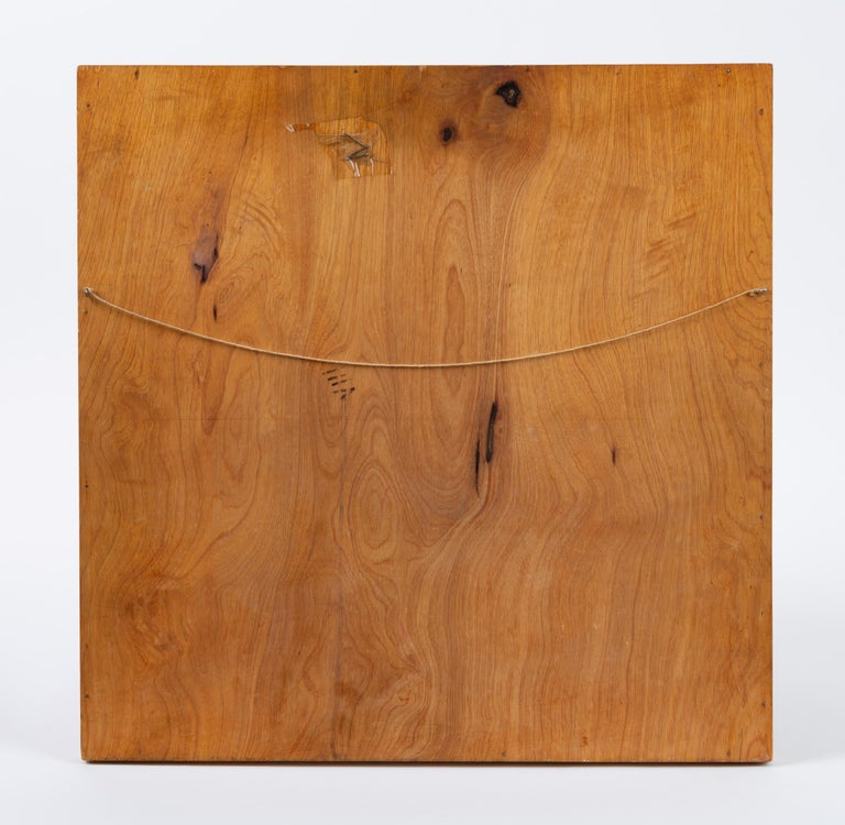 Wood Trompe L'Oeil Louis Cube Framed Marquetry Wall Art For Sale