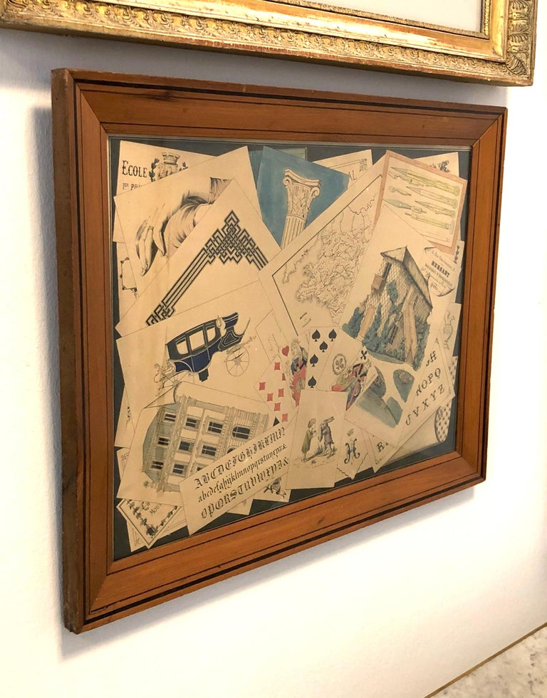 This amusing Trompe L'Oeil wall decoration was made in France, circa 1860/70. It comes in its original wooden frame.