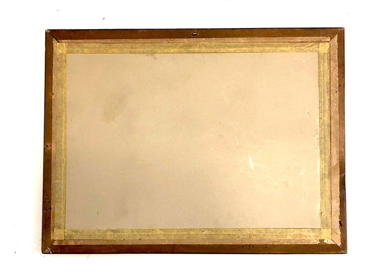 Painted Trompe L'Oeil Wall Decoration Painting, France For Sale