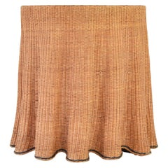 Trompe L'oeil Wicker Side Table with 'Draped' Illusion from France, 1970's
