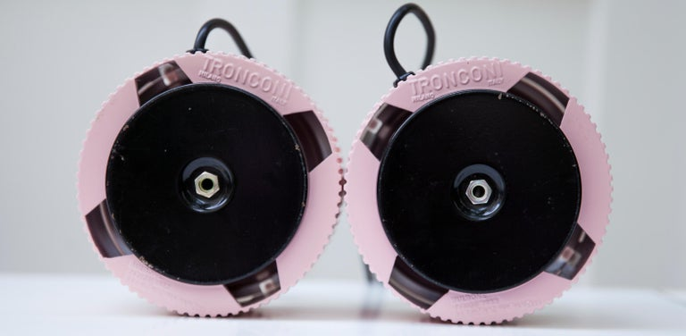 Late 20th Century Tronconi Pink Table Lamps, Italy, 1983 Set of 2 For Sale